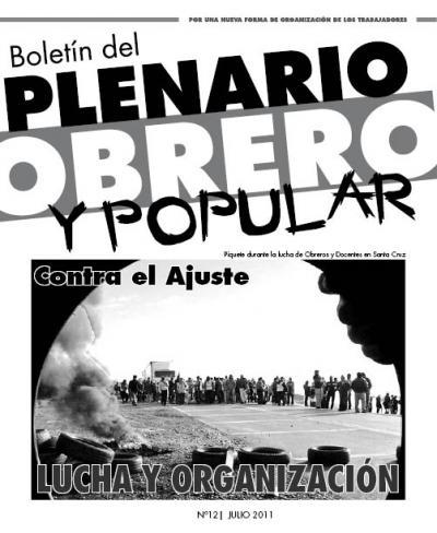 Boletín del PLENARIO OBRERO Y POPULAR - Nro 12