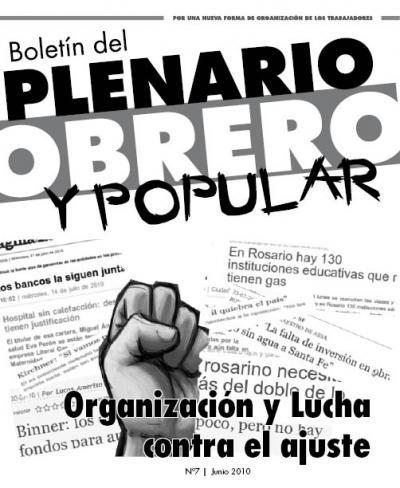 Boletín del PLENARIO OBRERO Y POPULAR - Nro 8