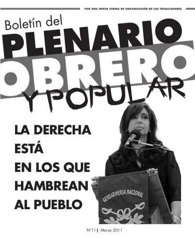 Boletín del PLENARIO OBRERO Y POPULAR - Nro 11