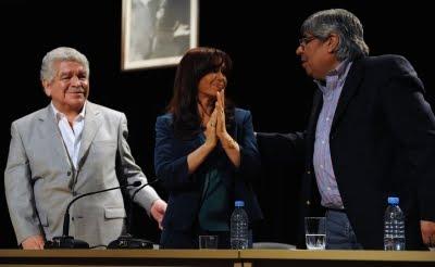 CFK con moyano y pedraza